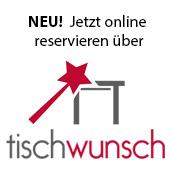 Online Reservierung via Tischwunsch
